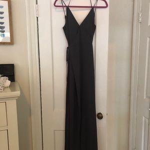 Dark grey bridesmaid dress